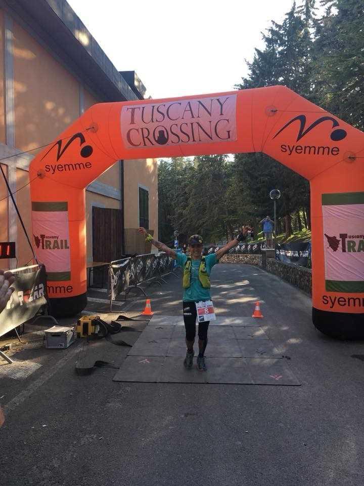La foianese Caterina Corti sul podio della 100Km della Val d'Orcia