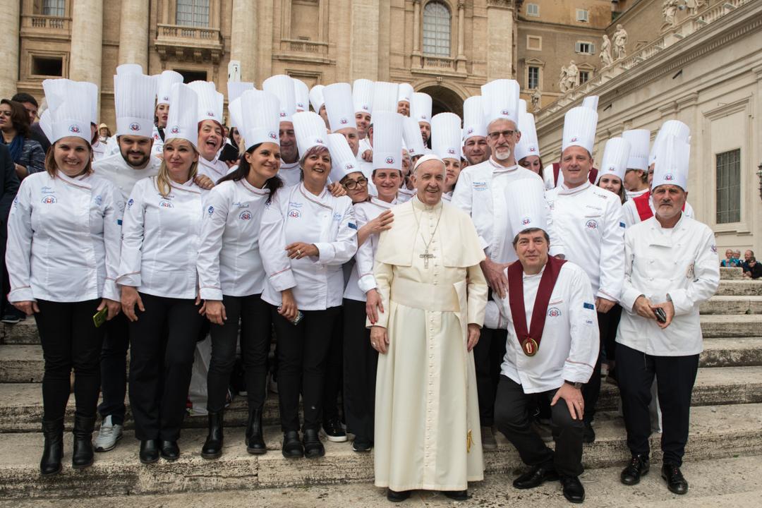 I Cuochi aretini da Papa Francesco