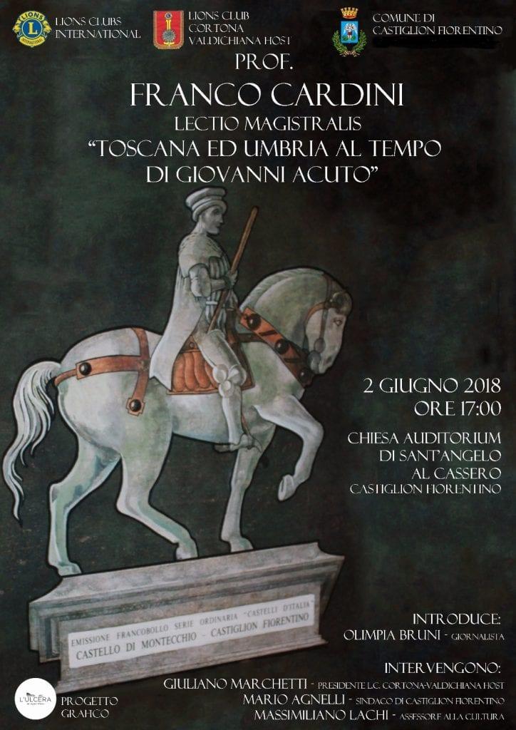 Lions Club Valdichiana Host: a Castiglion Fiorentino un evento su Giovanni Acuto