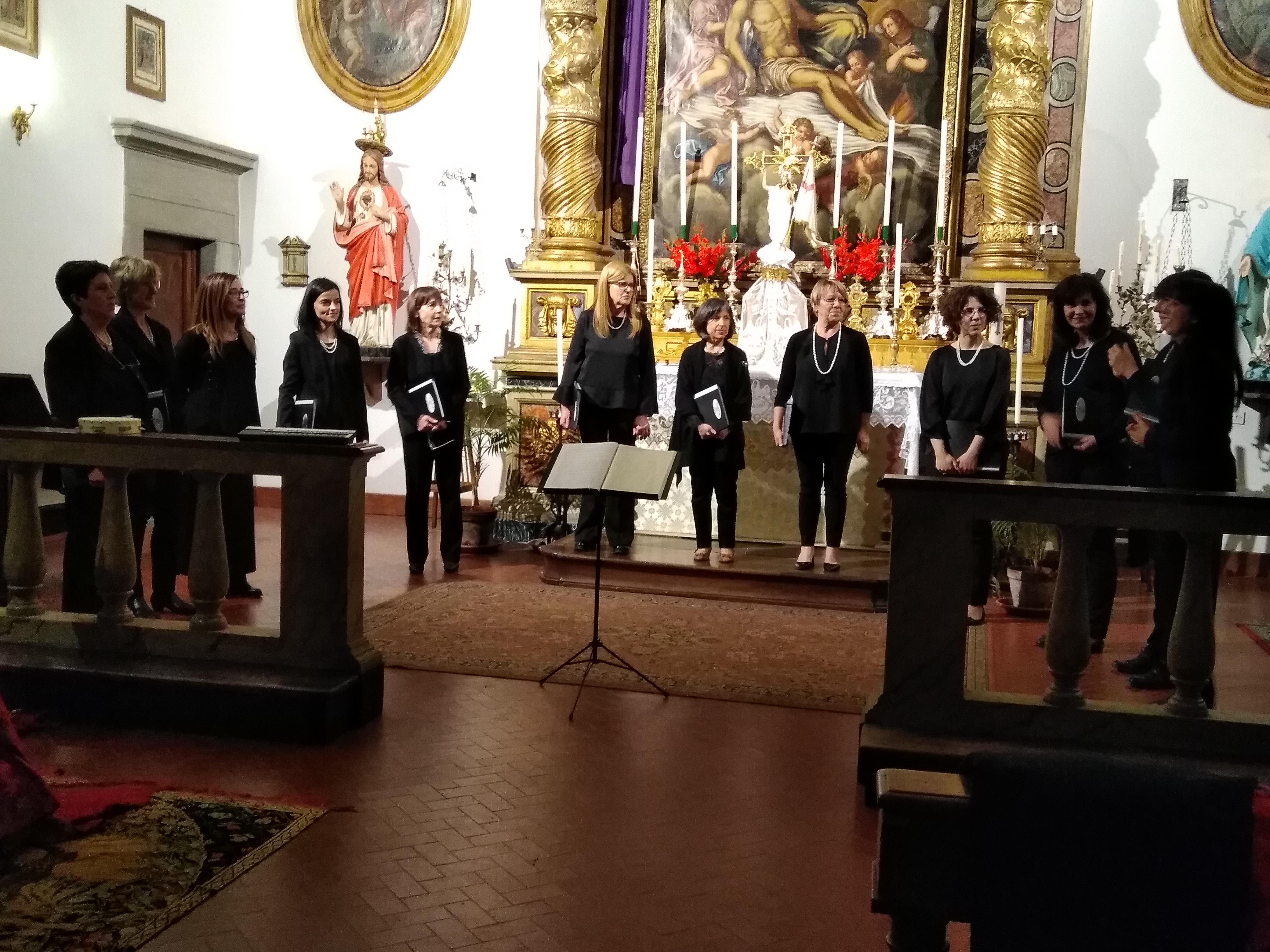 L' Insieme Vocale Tourdion si esibisce presso la bellissima Chiesa di S. Marco a Cortona