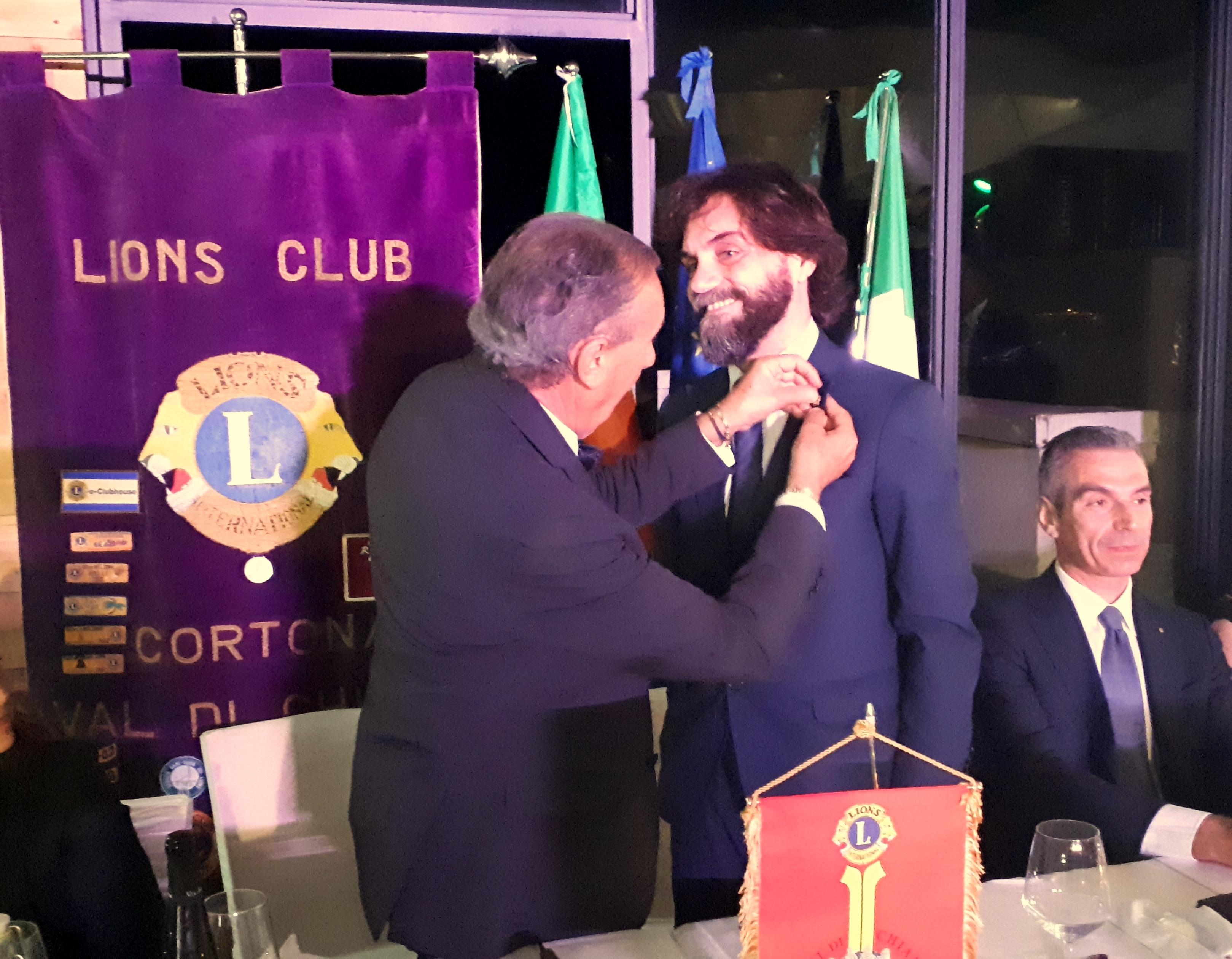 Francesco Lucani nuovo Presidente Lions Club Cortona Valdichiana Host