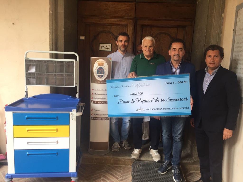 La Polisportiva di Montecchio Vesponi dona all'Ente Serristori mille euro