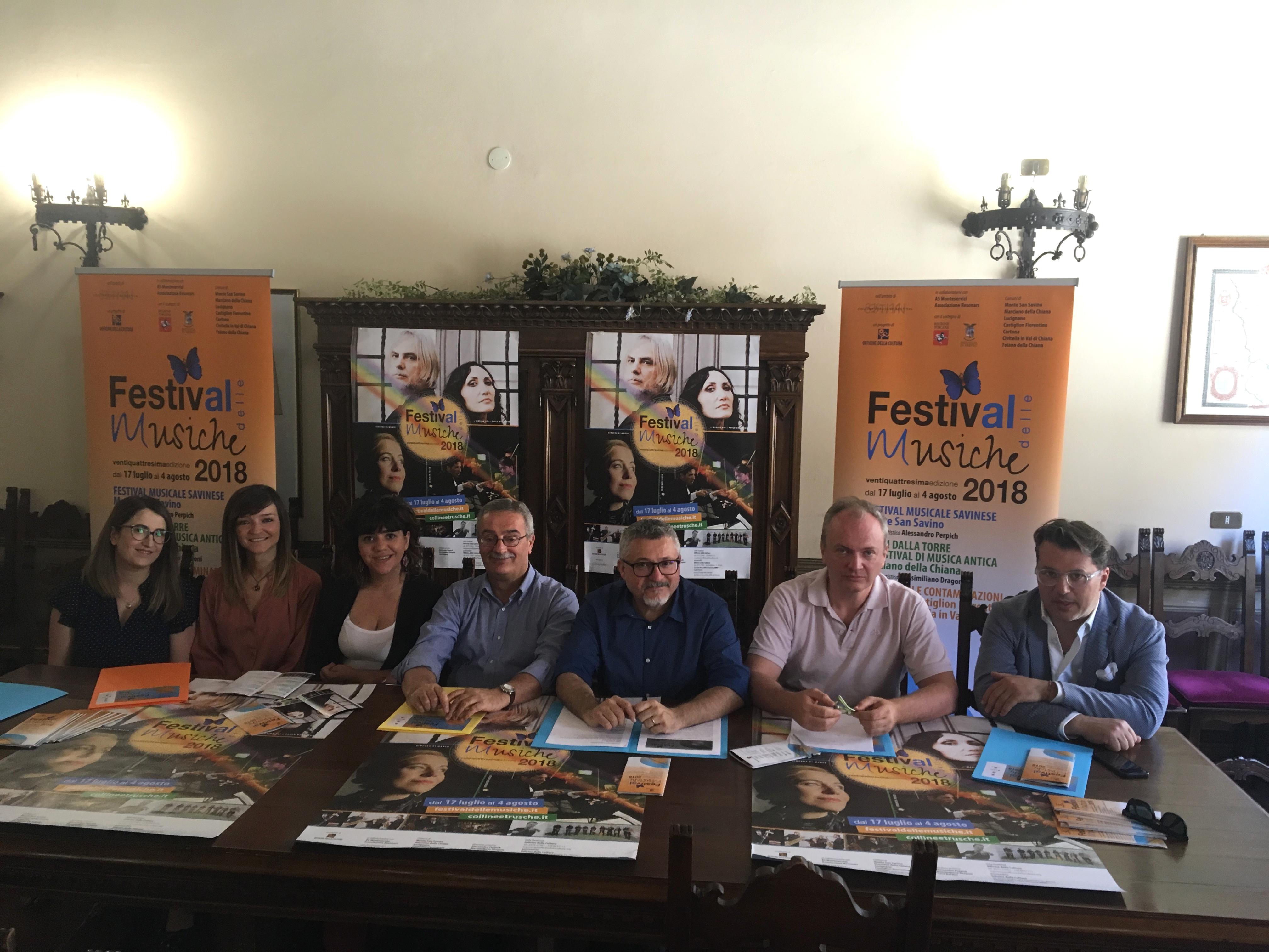 Festival delle Musiche: da Monte San Savino a tutta la Valdichiana, ecco il programma 2018