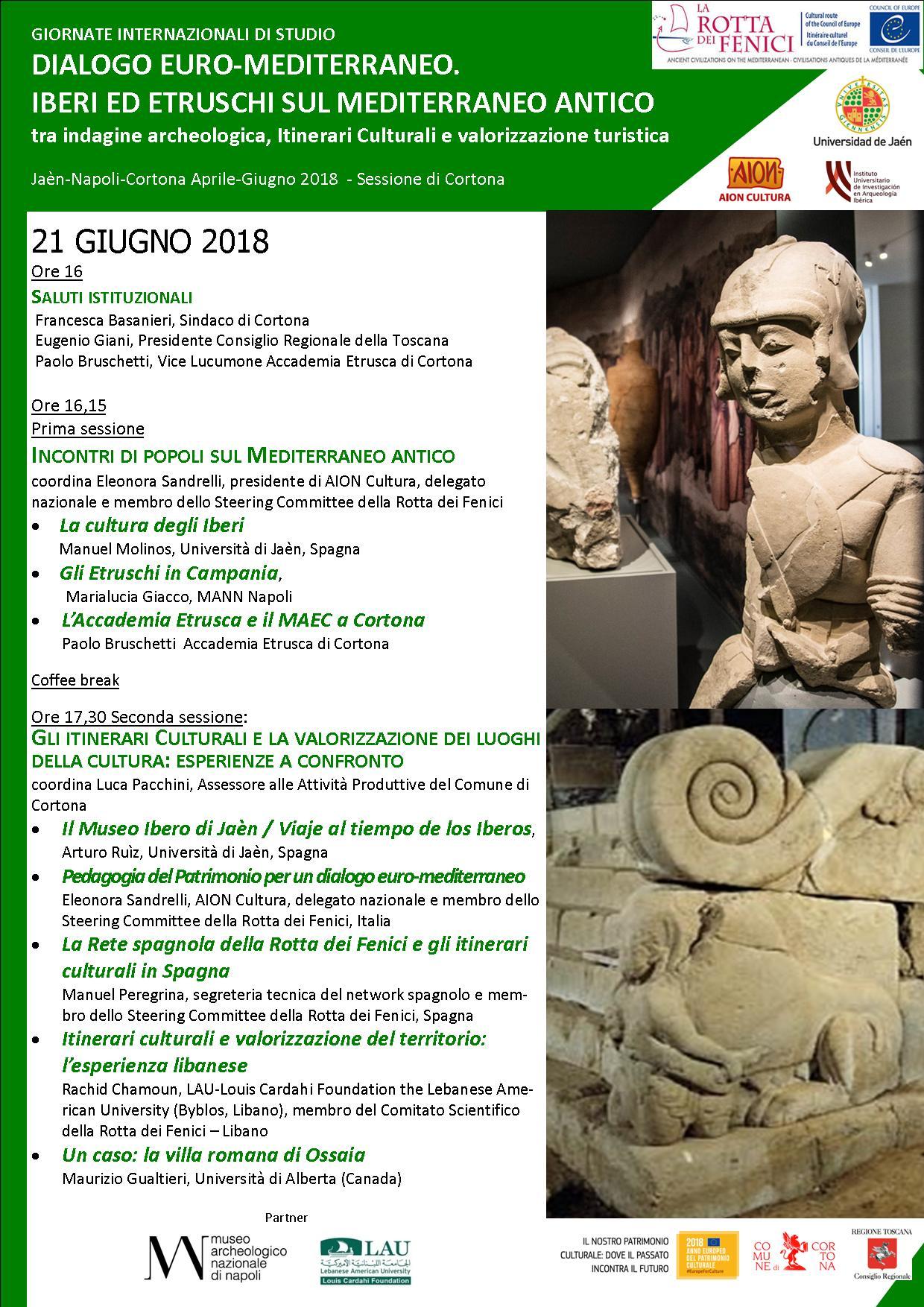 Iberi ed Etruschi nel Mediterraneo: giornate di studio a Cortona