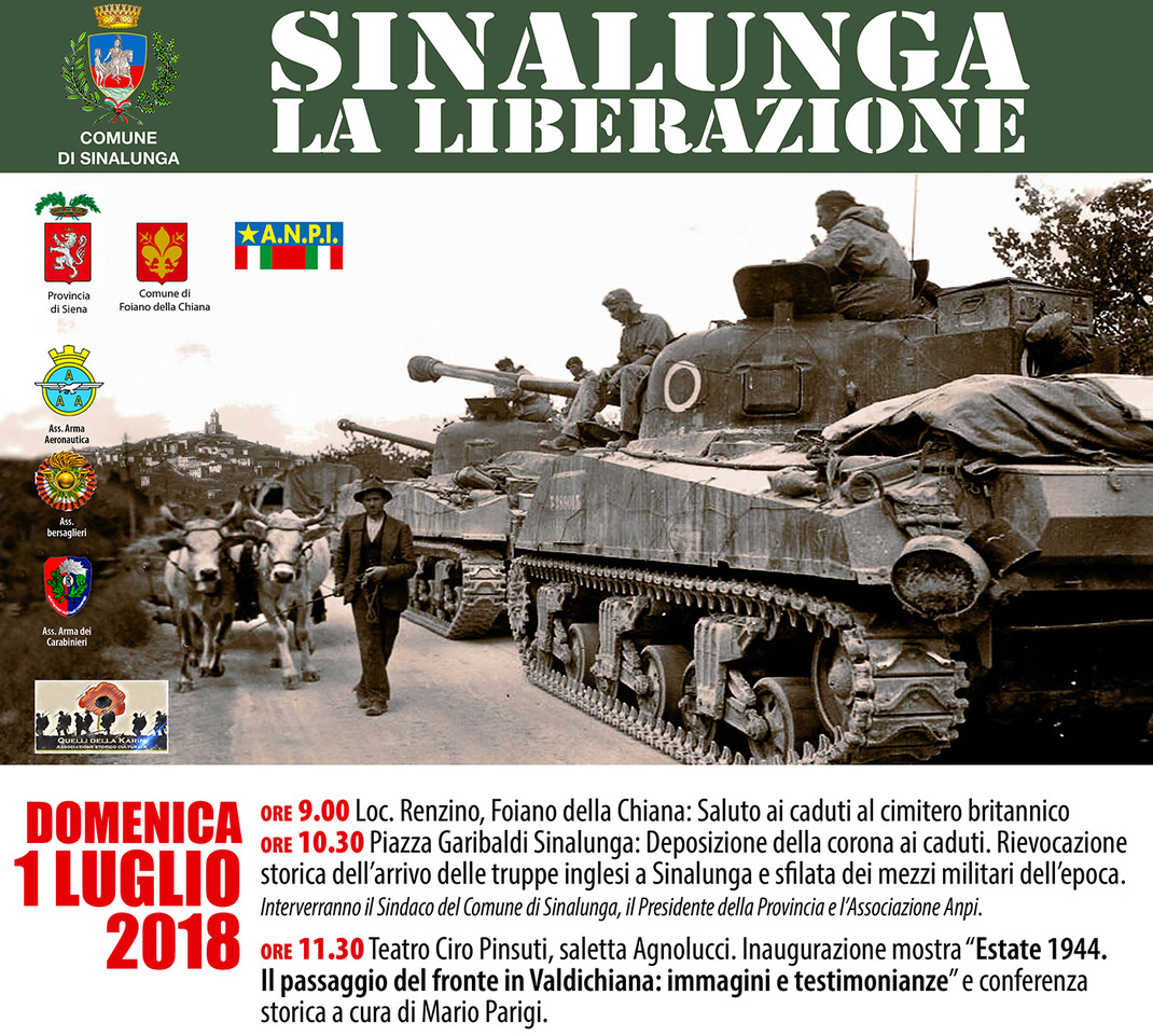 Sinalunga celebra la Liberazione della città dal nazi-fascismo