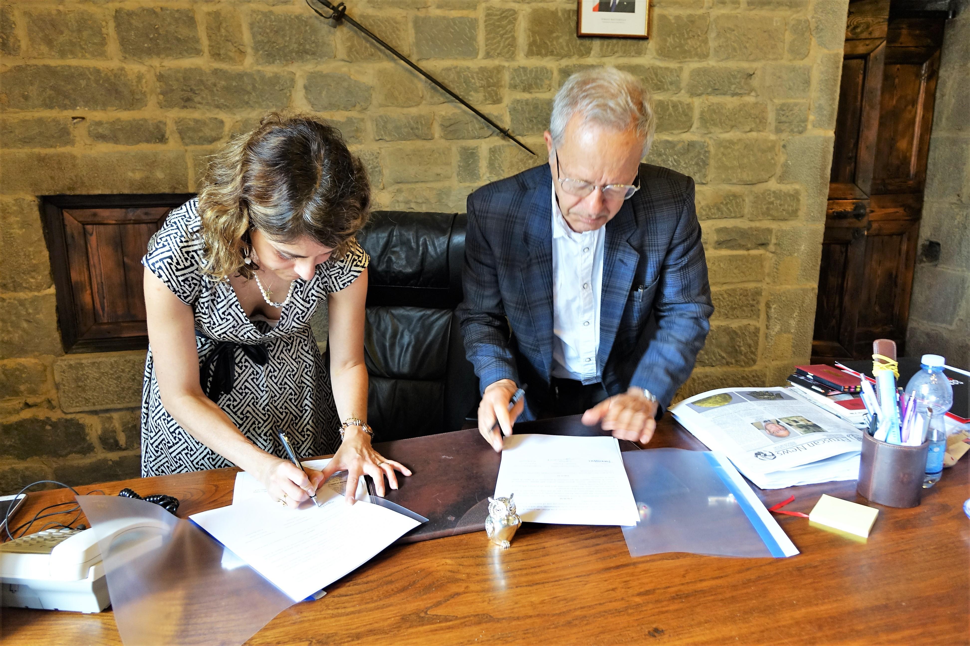 Convenzione Comune - Accademia Etrusca per il Museo MAEC, il Parco Archeologico e la Biblioteca storica