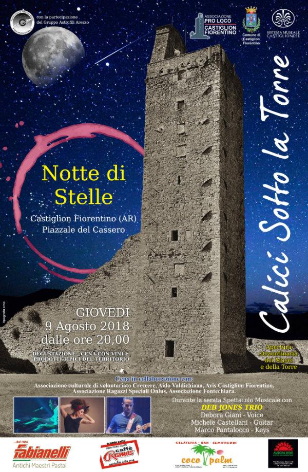 """""""Calici Sotto la Torre – Notte di Stelle"""". Giovedì dalle 20 apertura straordinaria dei Musei e della Torre"""