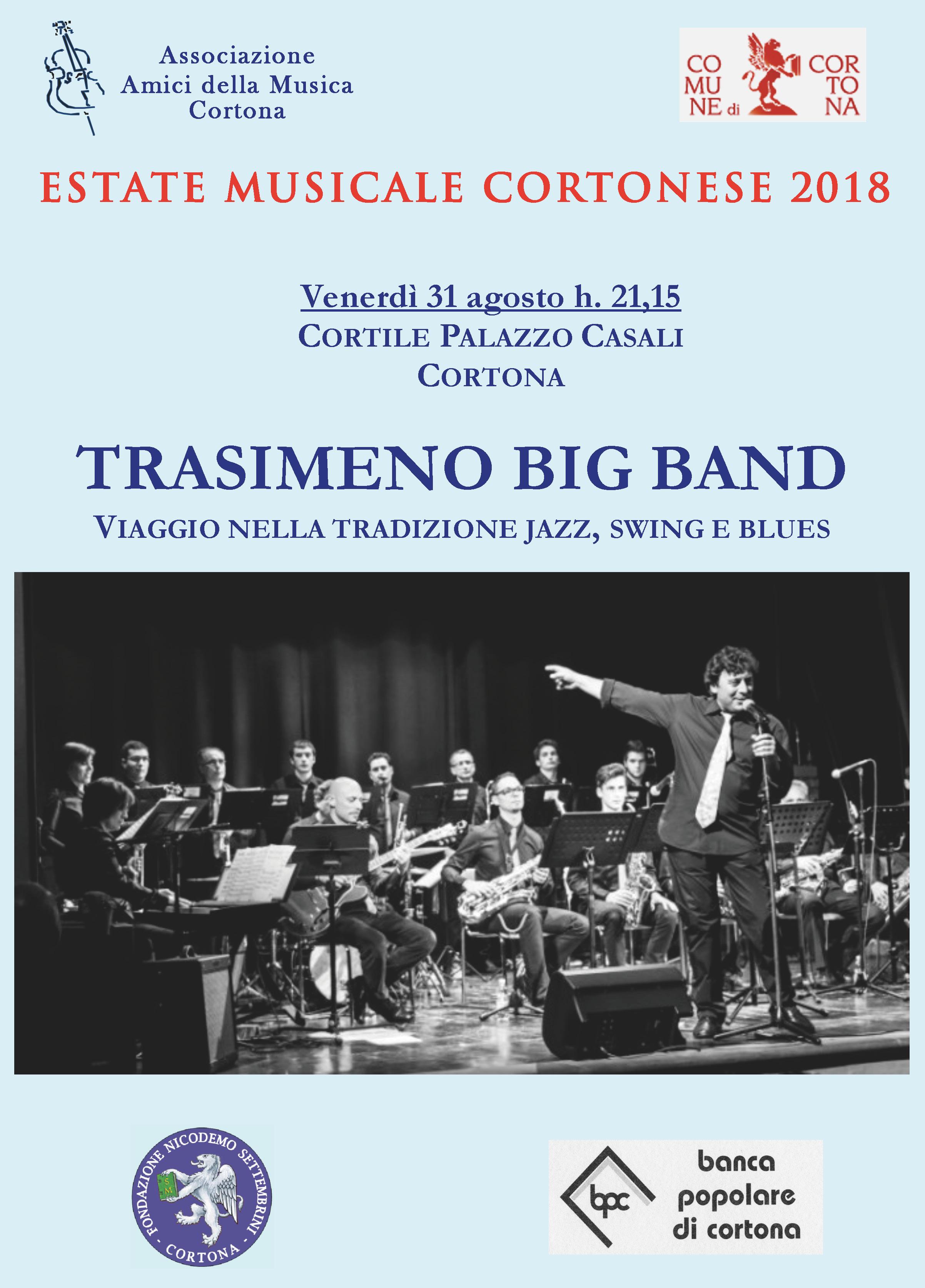 La Trasimeno Big Band per l'ultimo appuntamento coi concerti degli Amici della Musica
