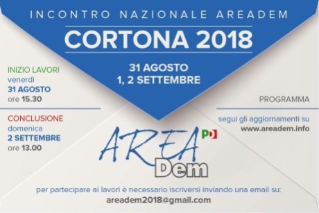 AreaDem: via alla 3 giorni a Cortona. Ecco tutti gli interventi previsti
