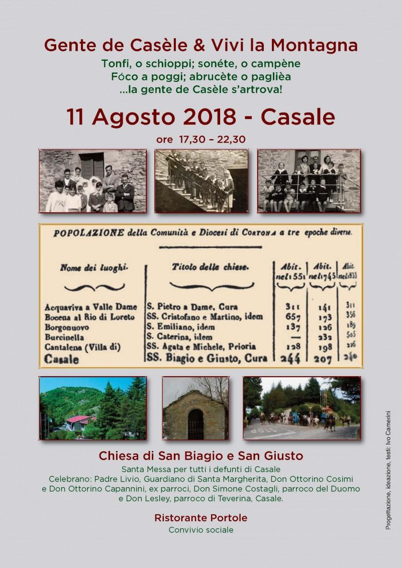 Il ritrovo della gente di Casale, il prossimo 11 Agosto