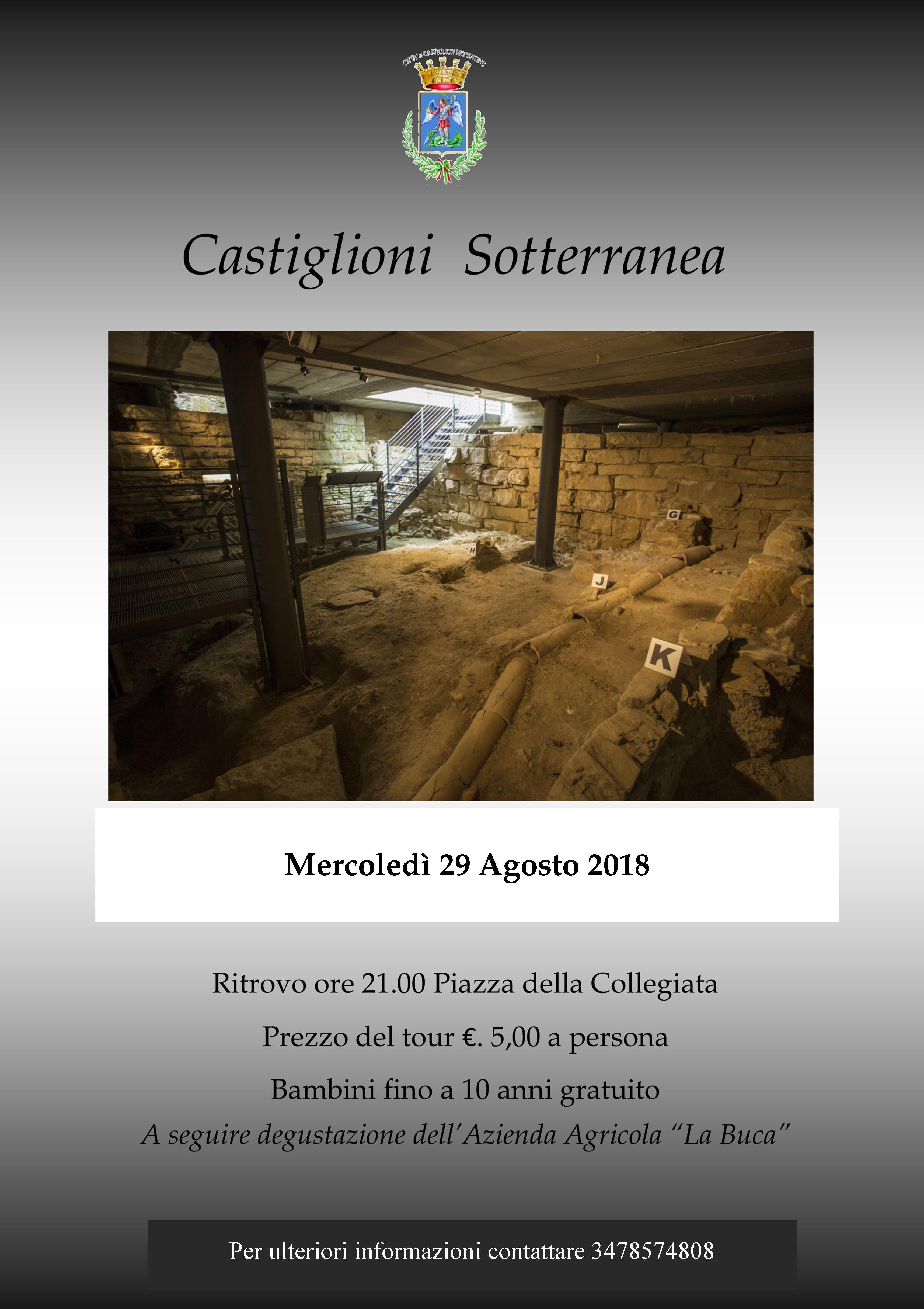 """""""Castiglioni Sotterranea"""", ultimo appuntamento mercoledì 29"""