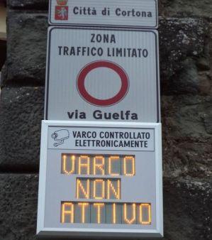 Dal 1° Ottobre tornano gli orari invernali della Ztl a Cortona