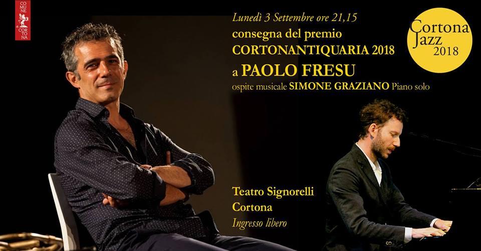 Lunedì sera Paolo Fresu riceve il Premio CortonAntiquaria