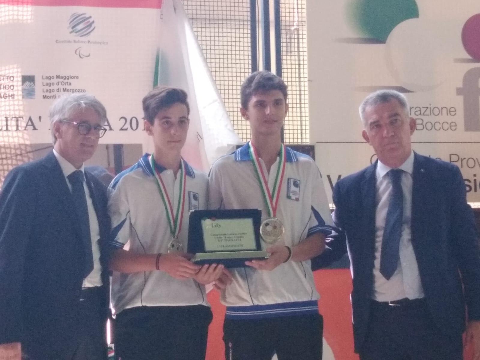 Bocce: i cortonesi Cecchi e Mazzoni medagliati ai campionati italiani Under 18