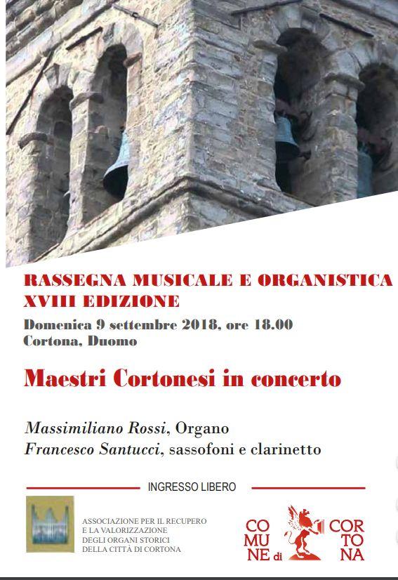 Nuova tappa della Rassegna Musicale e Organistica nella Cattedrale di Cortona