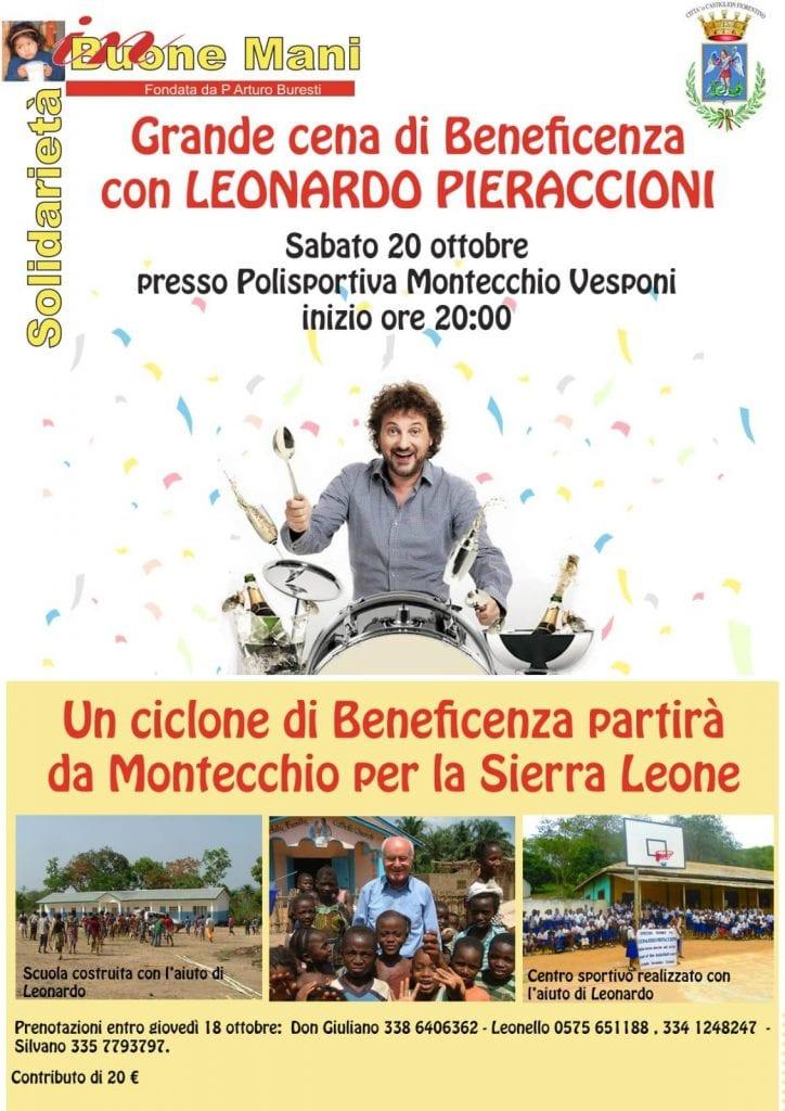 Leonardo Pieraccioni a Montecchio per una cena di solidarietà