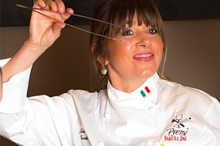La lady Chef Silvia Baracchi a Tavola con le Stelle a Foligno