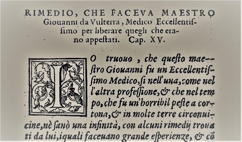 Un rimedio per la peste dalla Cortona del Cinquecento