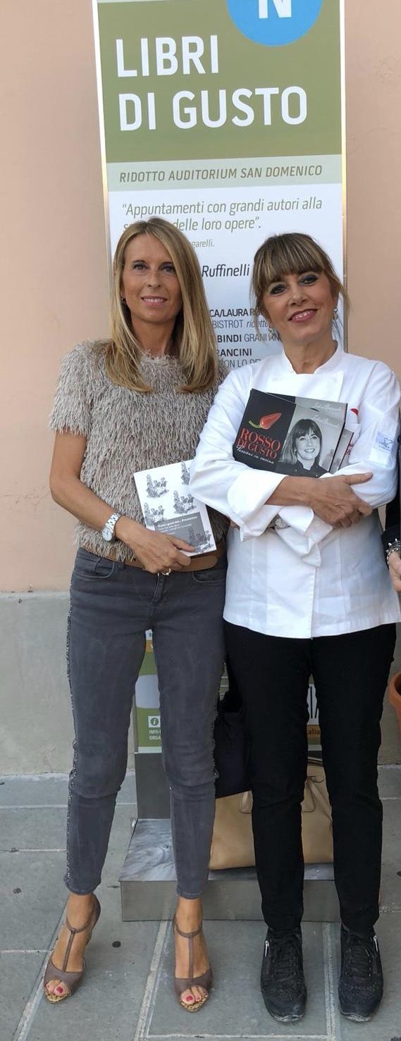 Silvia Baracchi al Festival nazionale dei Primi Piatti. Presente anche la giornalista Prisca Mencacci