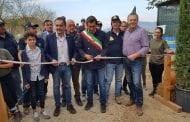 Tanta gente, ieri, all'inaugurazione della nuova sede di Protezione Civile a Cavallo