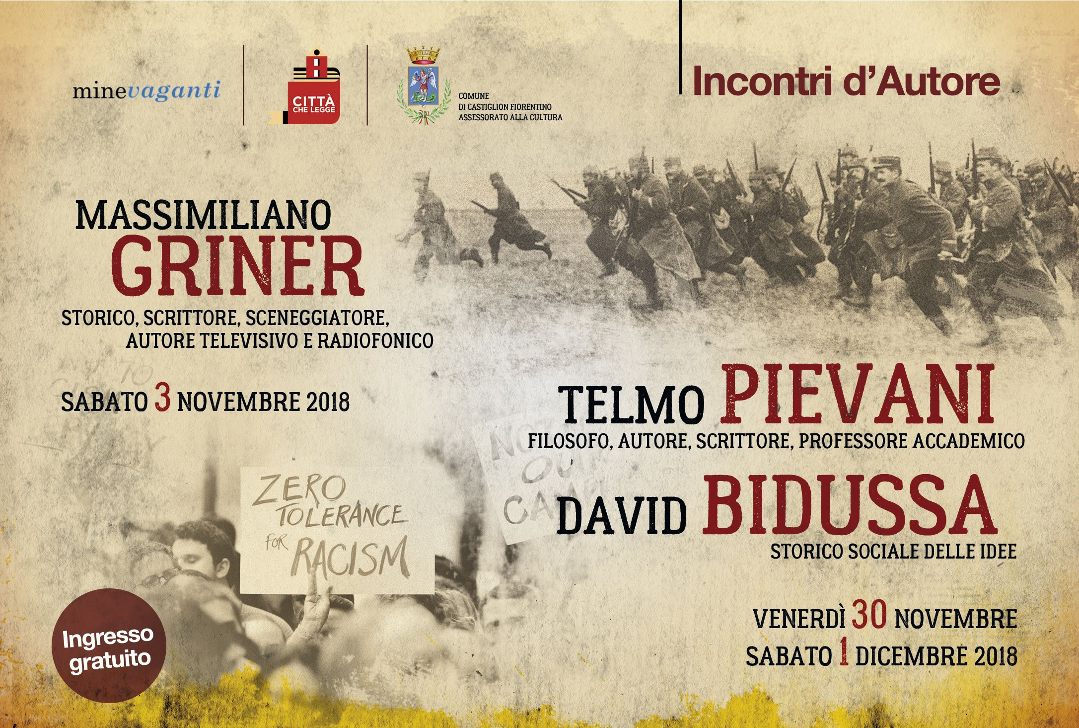 """""""Incontri d'Autore"""": 3 appuntamenti a Castiglion Fiorentino"""