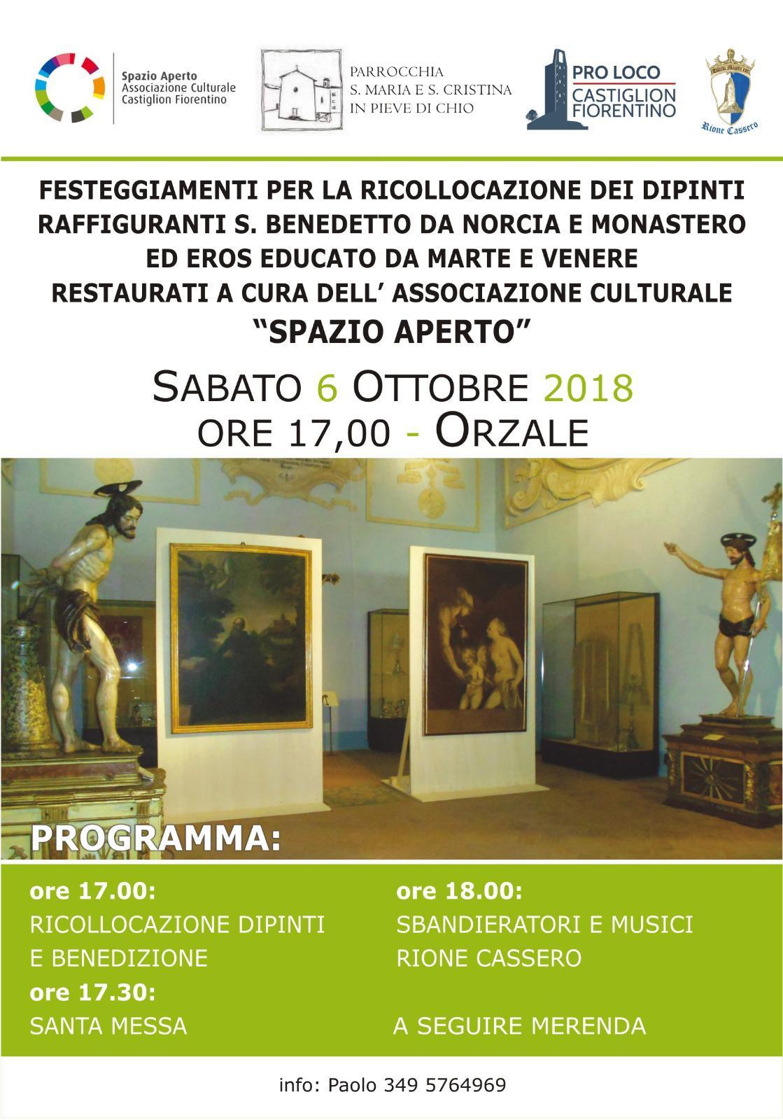 Ricollocati i dipinti a Orzale, sabato i festeggiamenti