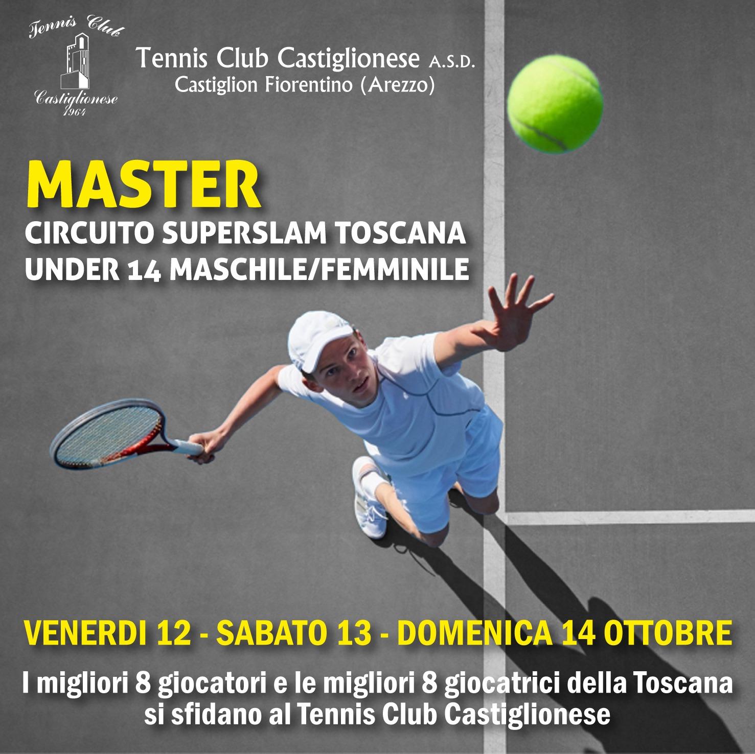 Grande spettacolo al Tennis Club Castiglionese con il Master Super Slam Toscana U14 Maschile e Femminile