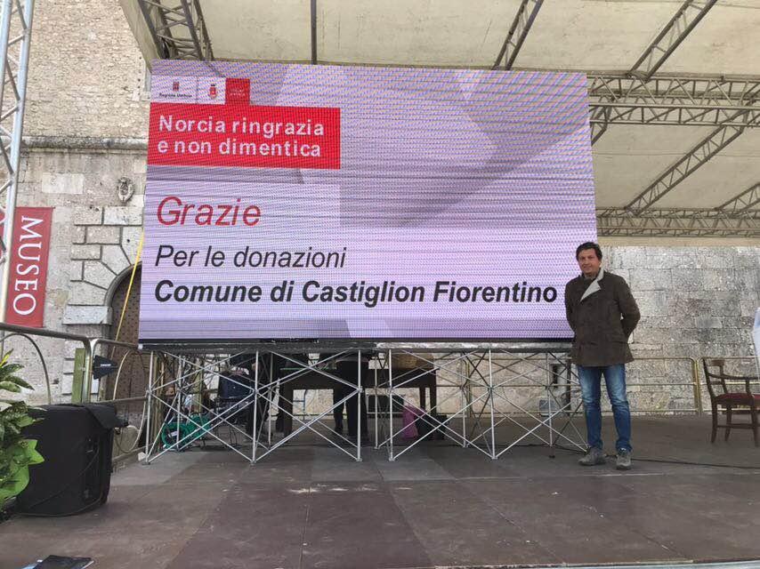 Castiglion Fiorentino e Norcia, prosegue il patto di amicizia