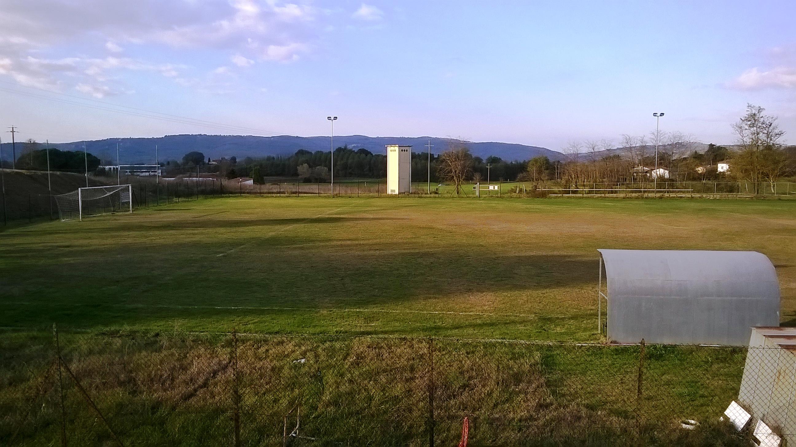 Via ai lavori sul Campo Sportivo alla Croce di Lucignano