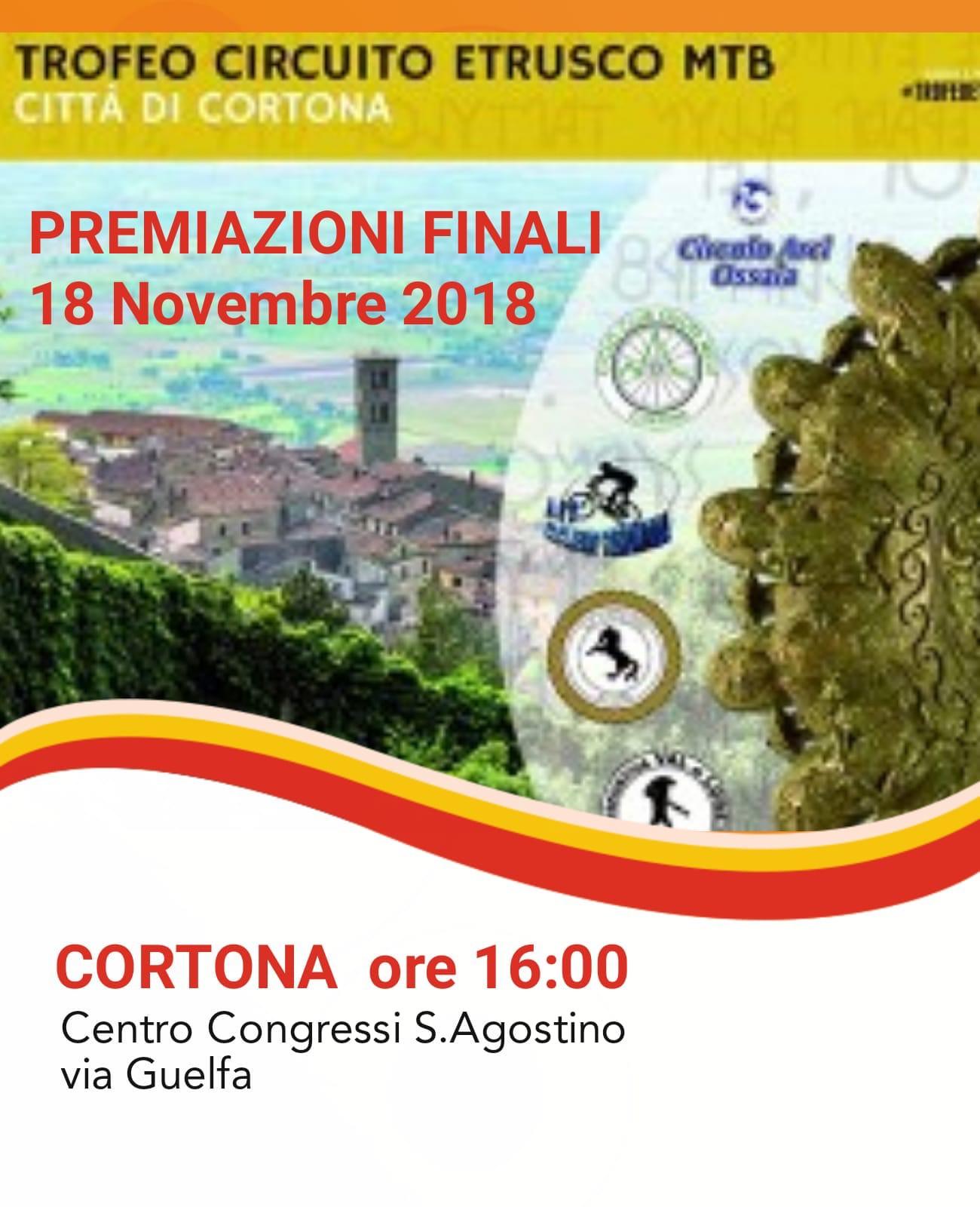 Trofeo Circuito Etrusco MTB: le premiazioni a Cortona