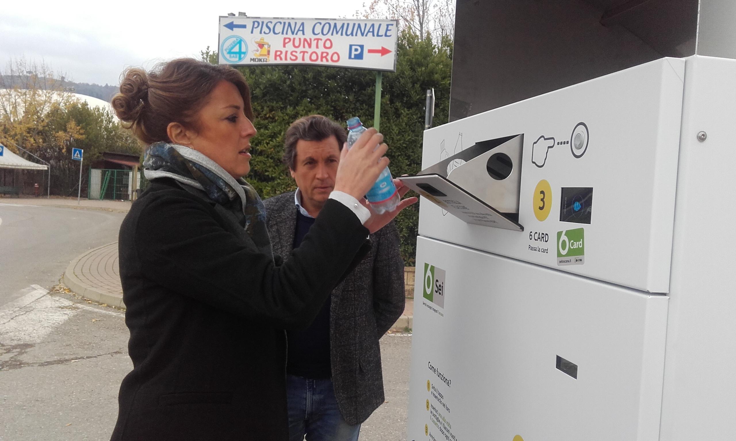 Un nuovo eco-compattatore a Castiglion Fiorentino