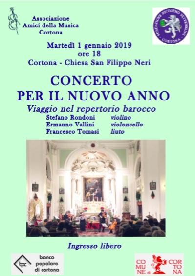 A Cortona Concerto per il Nuovo Anno promosso dagli Amici della Musica