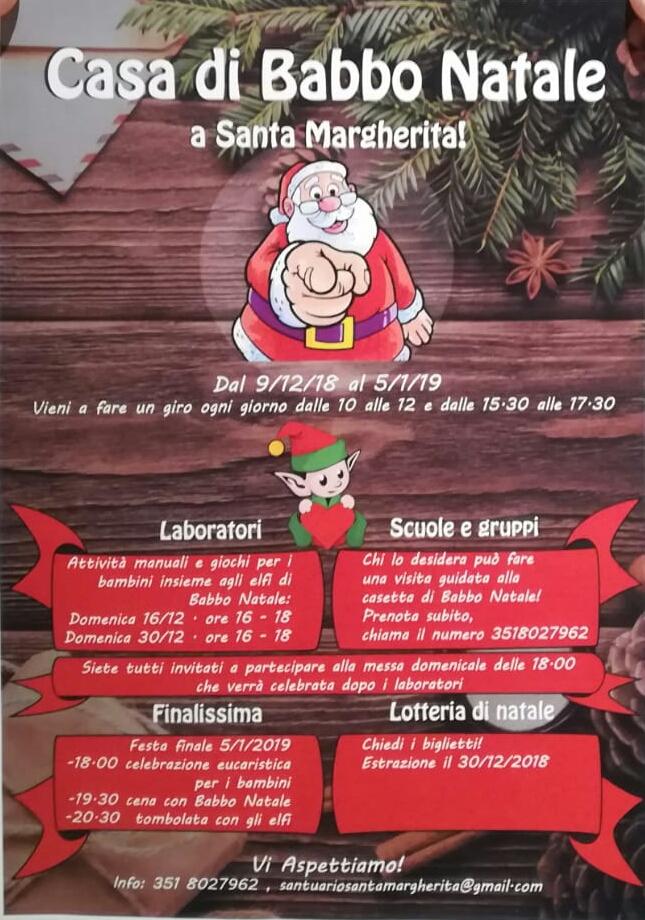 A Santa Margherita apre i battenti la Casa di Babbo Natale