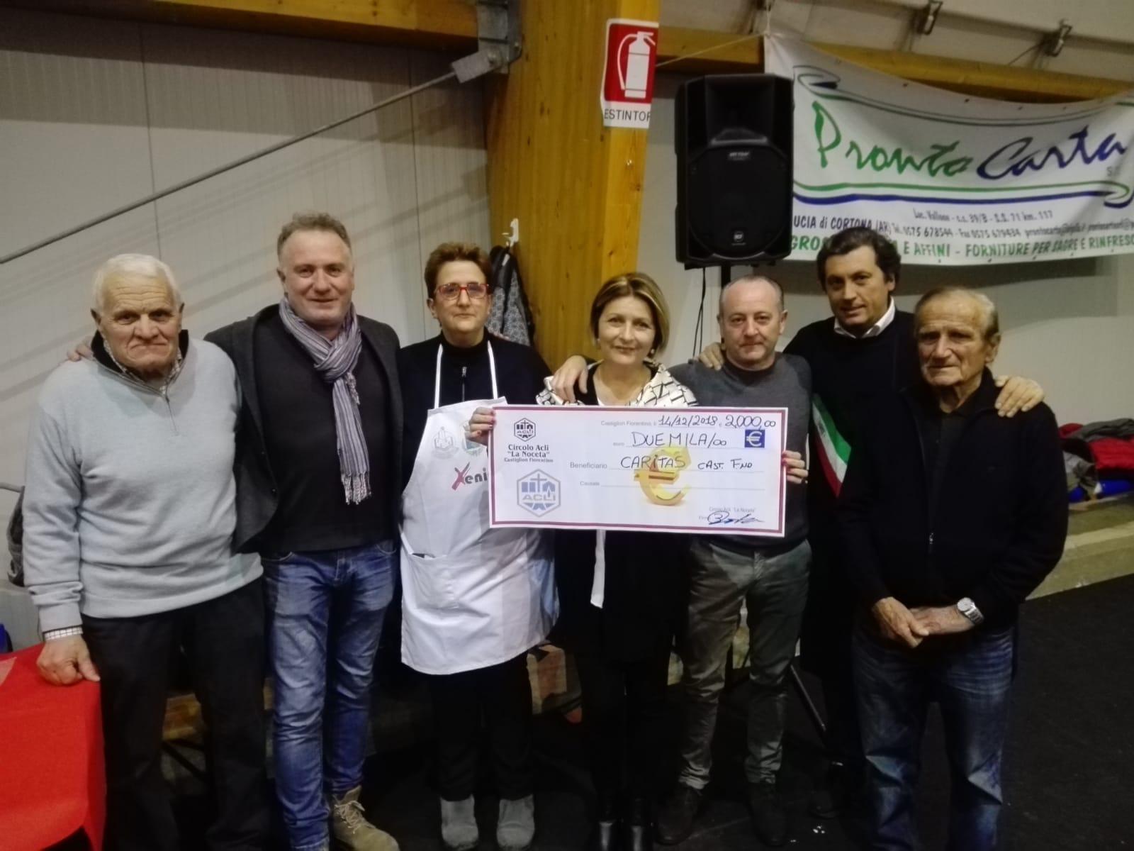 Il Circolo Noceta dona 2mila euro a Caritas