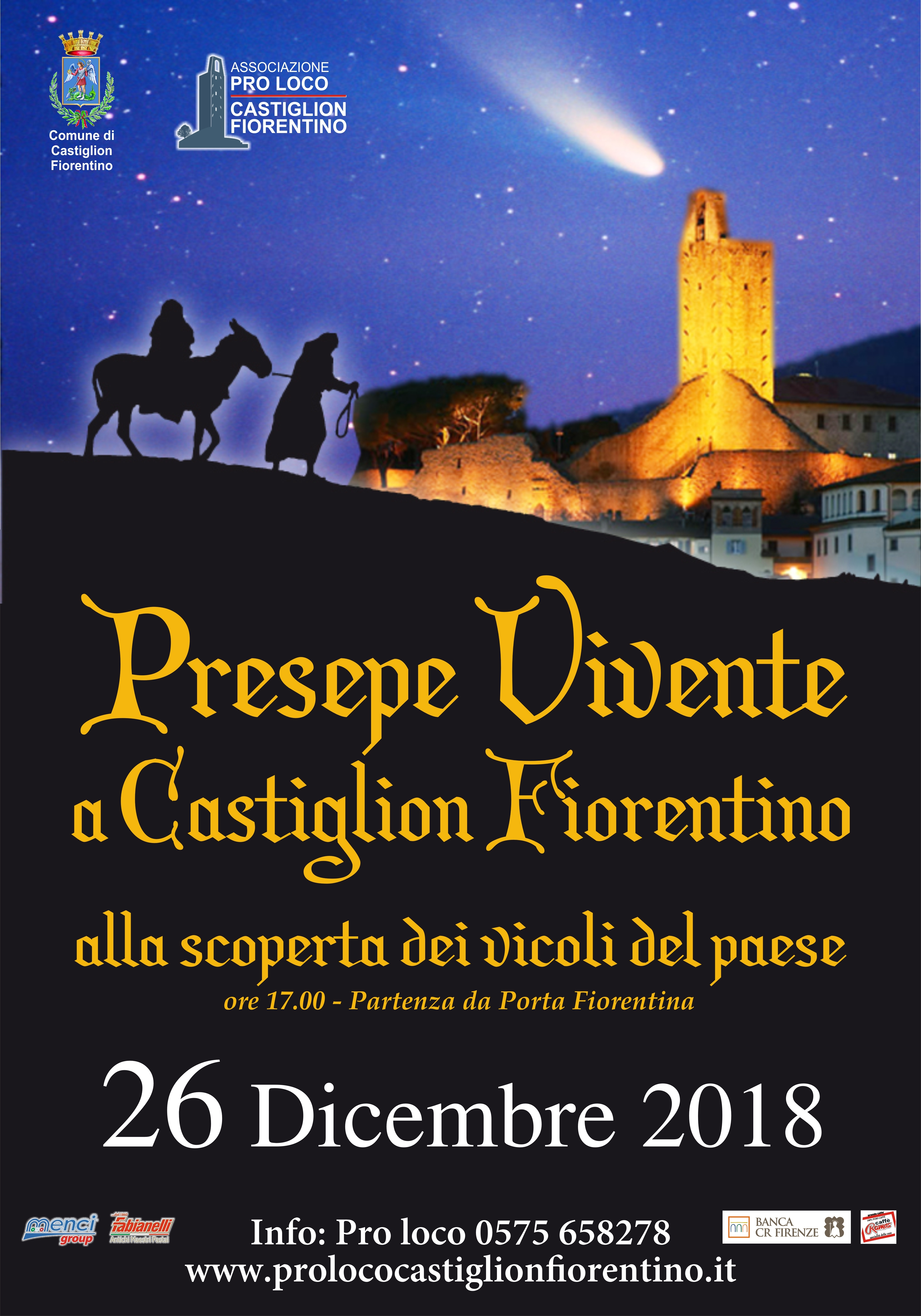 Presepe vivente a Castiglion Fiorentino: 200 figuranti e 34