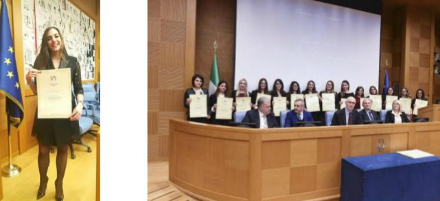 Una laureata Terontolese premiata alla Camera dalla Fondazione Italia USA