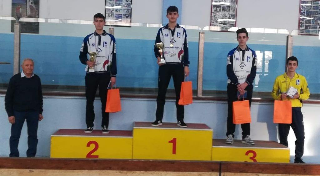 Tripletta del Cortona Bocce in Coppa Toscana Juniores