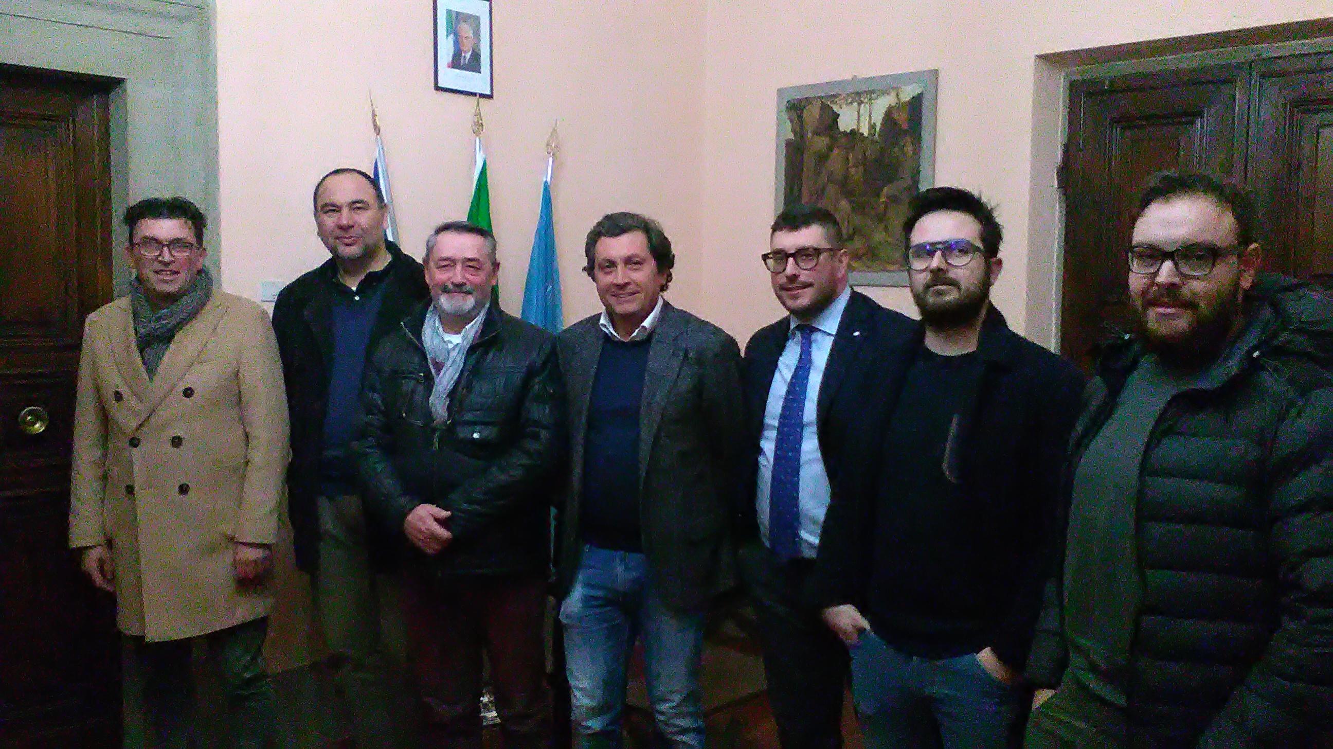 Incontro ufficiale tra il magistrato Alessandro Singali, i Presidenti e i capitani dei Rioni