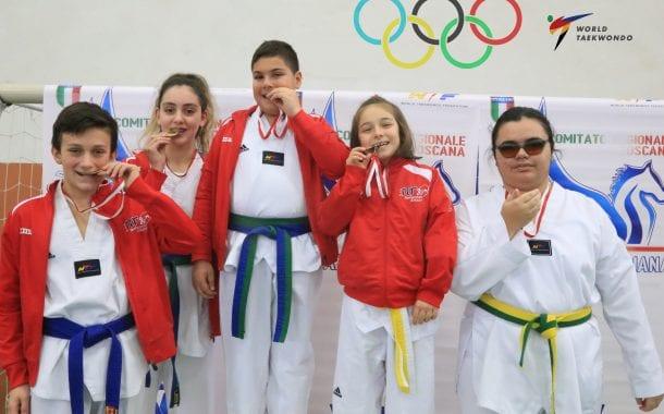 Taekwondo: 4 ori e 1 argento per la NRGYM al Regionale Toscano Forme