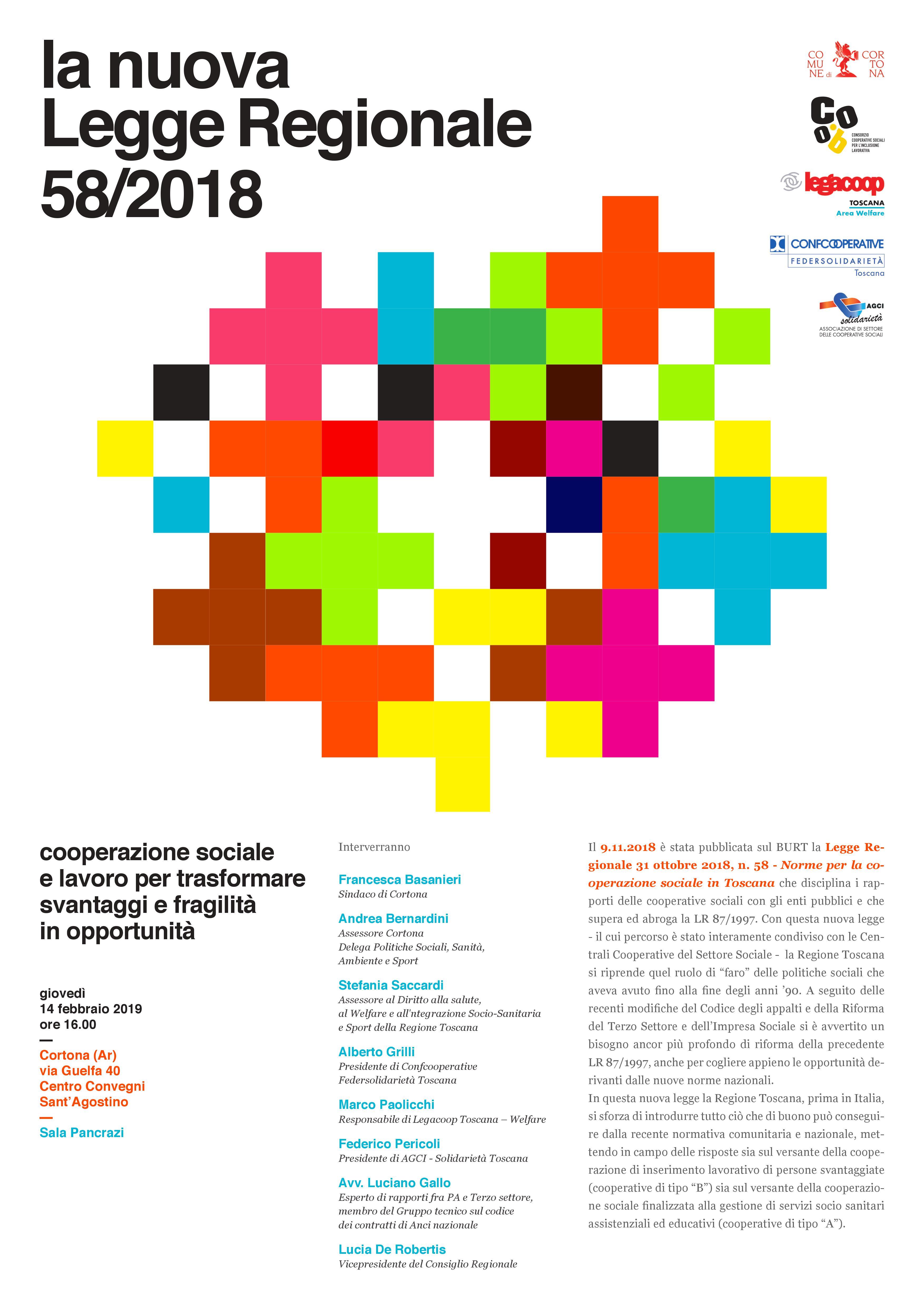 Il futuro della cooperazione sociale, appuntamento a Cortona