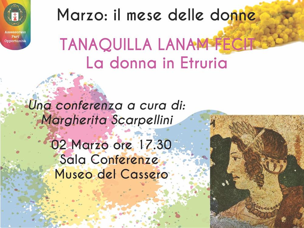 Il 'Mese delle Donne' a Monte San Savino. Il Sindaco Scarpellini protagonista del primo incontro sulla donna nella civiltà etrusca