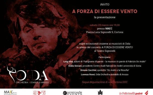 OIDA celebra De André a Cortona. Sarà presente Dori Ghezzi