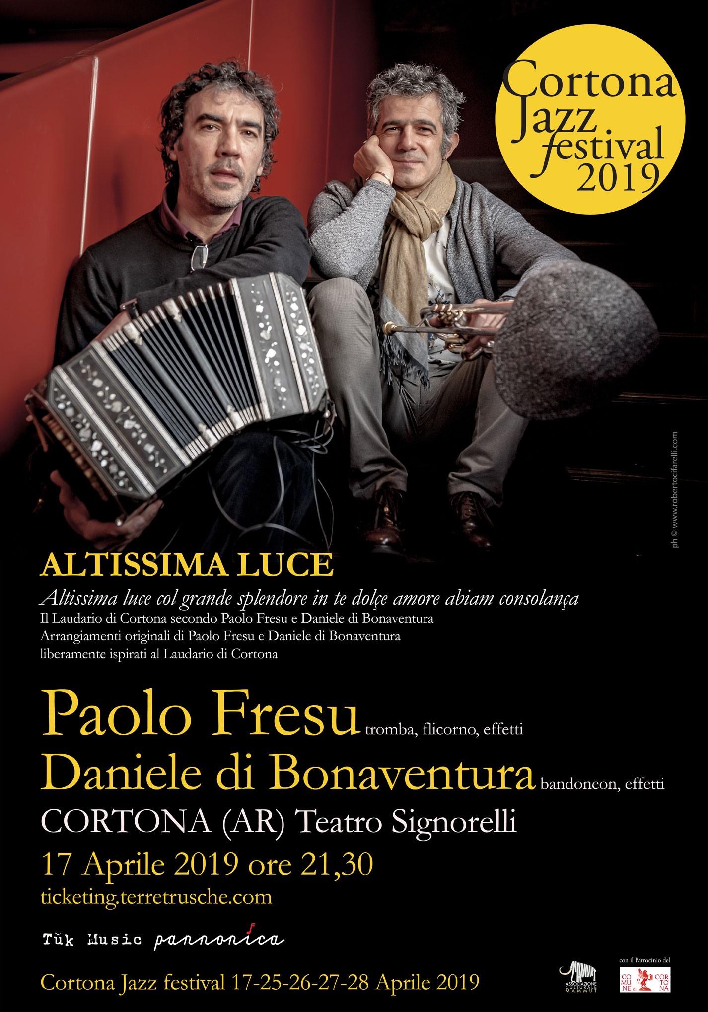 Anteprima del Cortona Jazz Festival con Fresu e Di Bonaventura