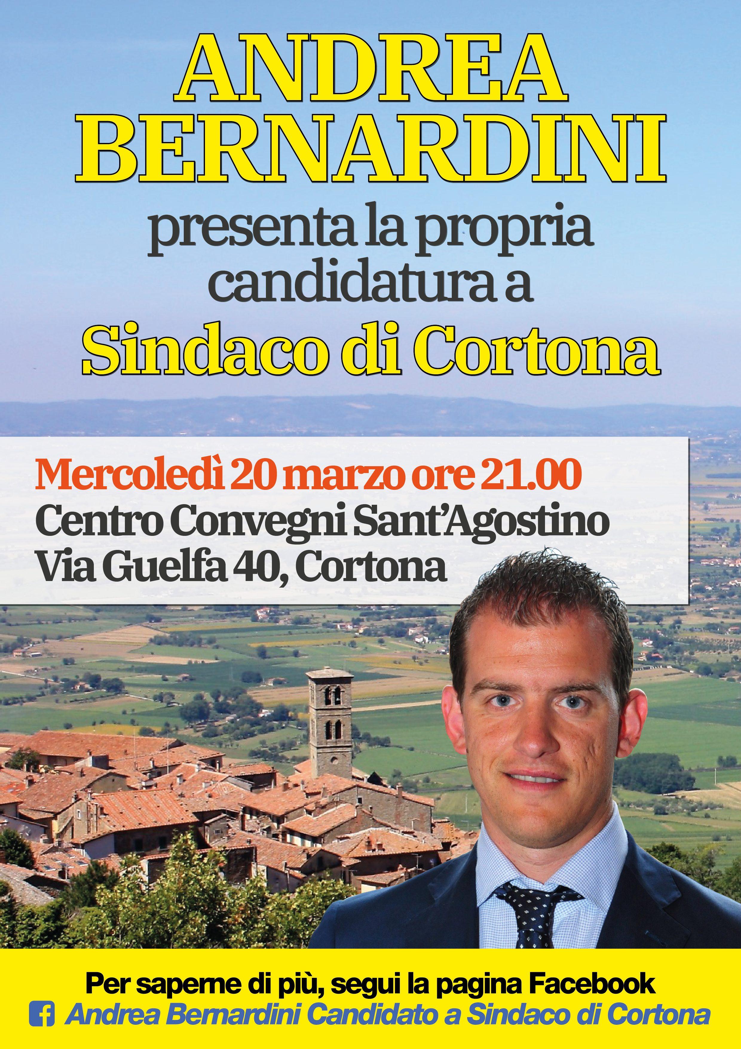 Presentazione pubblica del candidato a Sindaco del centrosinistra Andrea Bernardini