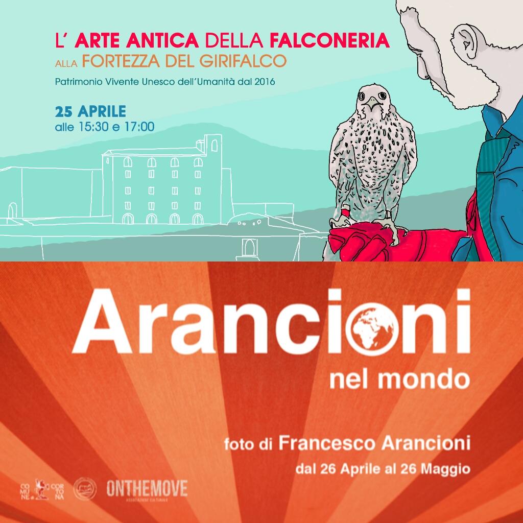 Al Girifalco 25 Aprile con la Falconeria e dal 26 la mostra