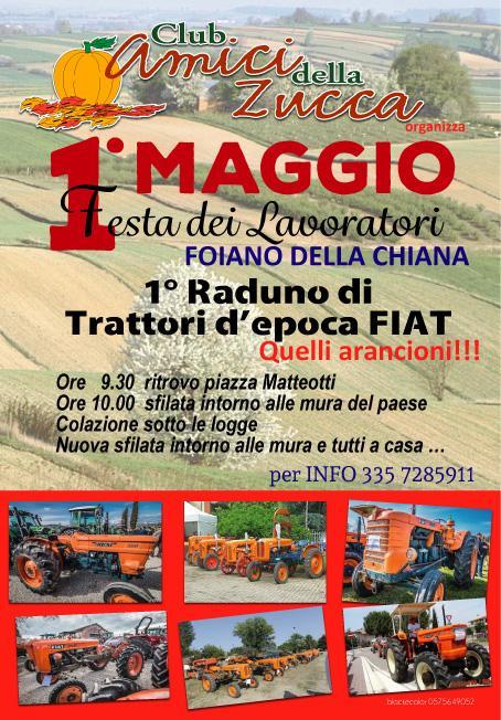 """Trattori """"arancioni"""": primo maggio a Foiano la sfilata di mezzi d'epoca"""