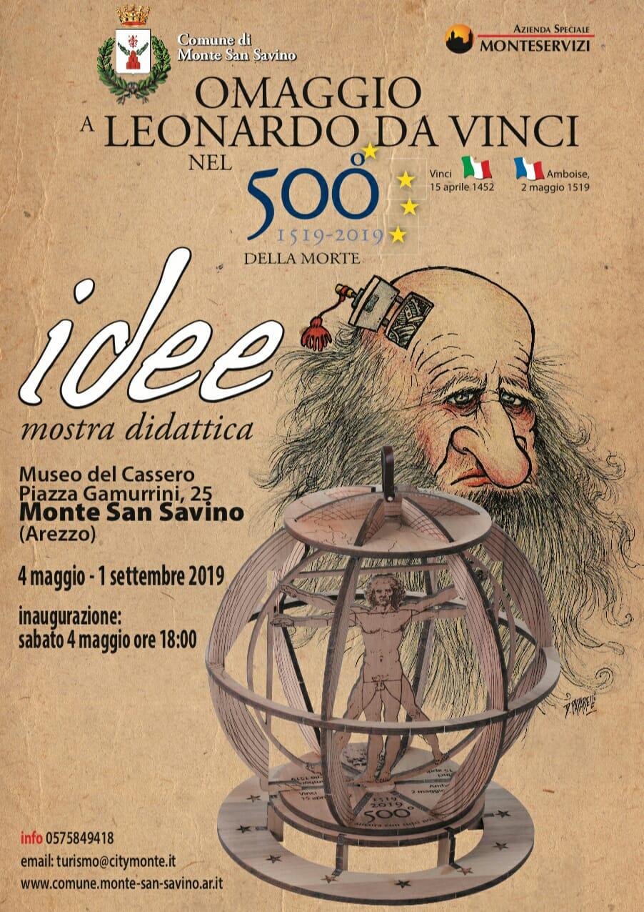 Una mostra omaggio a Leonardo Da Vinci a Monte San Savino