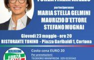 Mariastella Gelmini domani 23 maggio a Cortona alla cena provinciale di Forza Italia