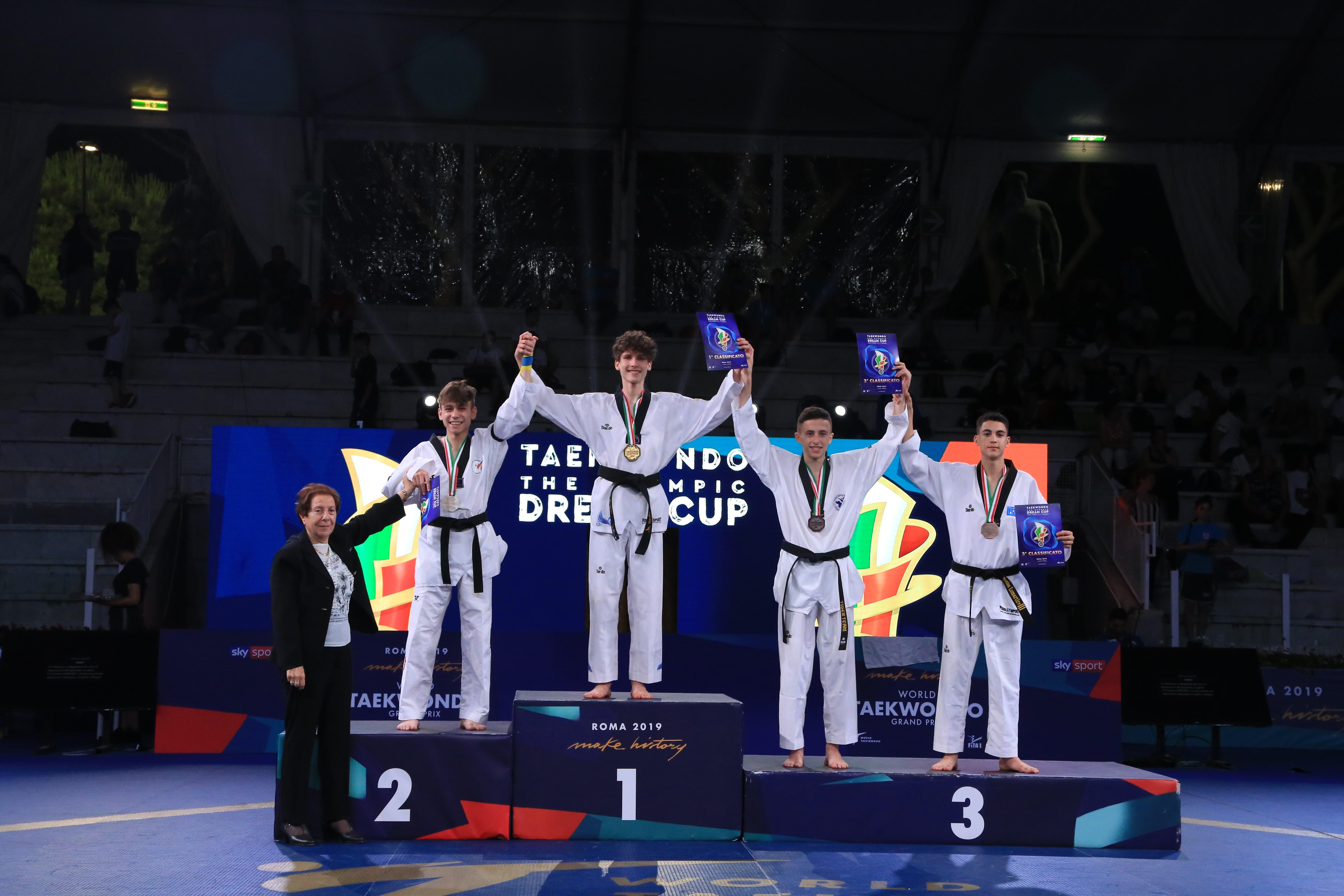 Oro per Andrea Conti della Asd Nrgym Taekwondo Arezzo all'Olympic Dream Cup 2019
