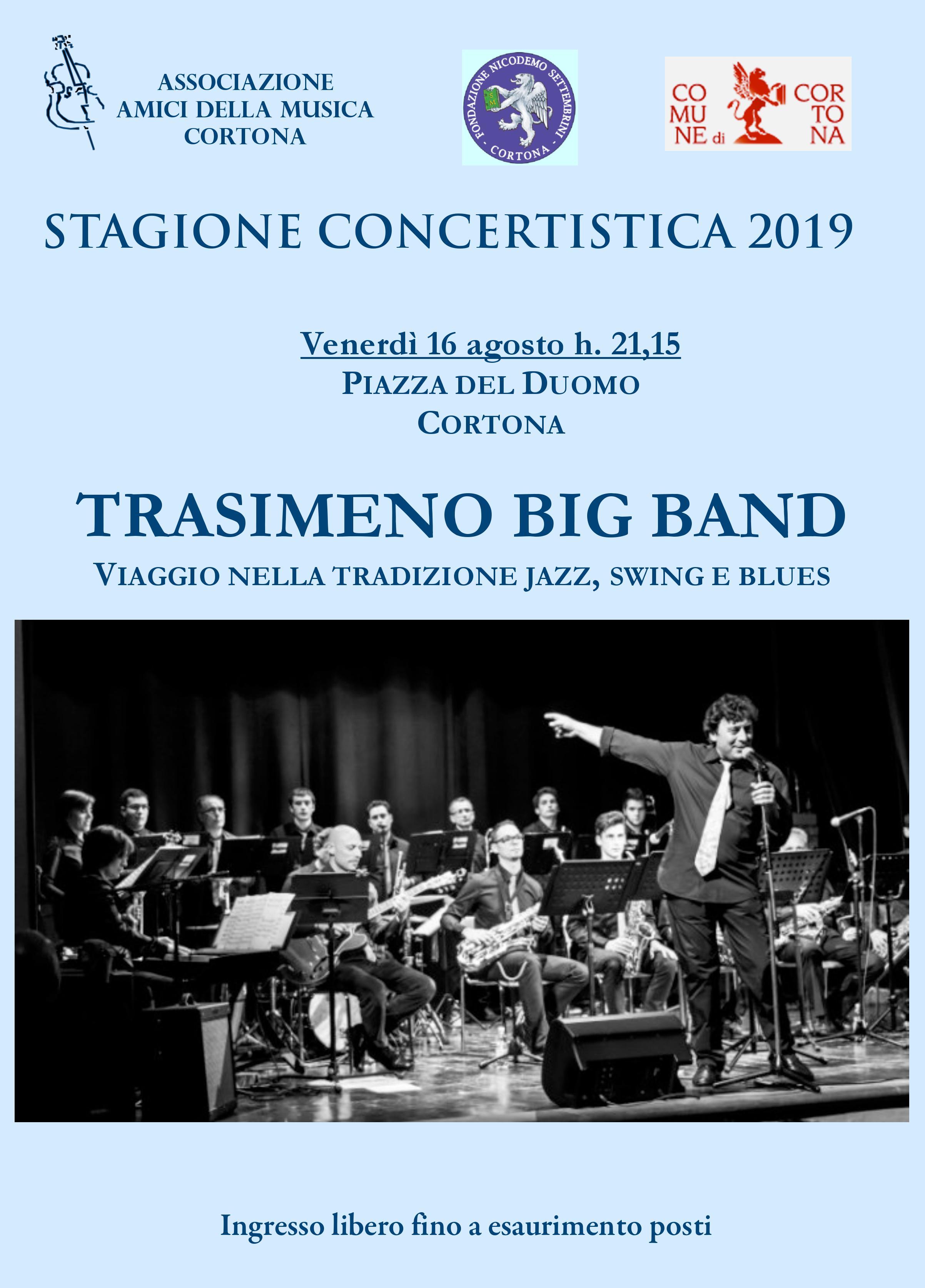 Trasimeno Big Band in Piazza del Duomo a Cortona